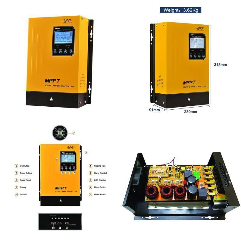 60a mppt solar charge controller 60amp panel battery