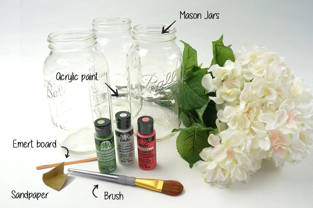 Vintage Inspired DIY Distressed Mason Jars