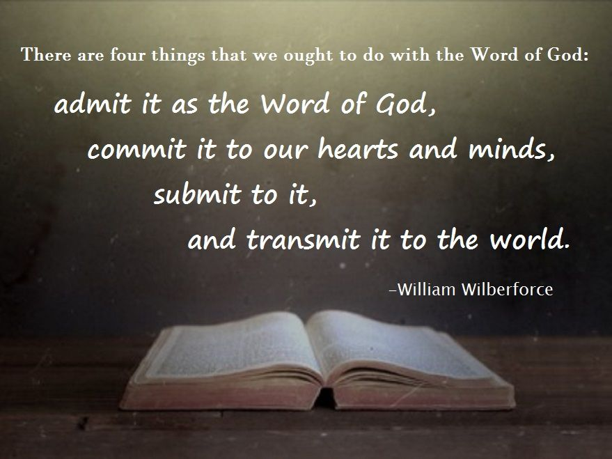 William Wilberforce On The Bible