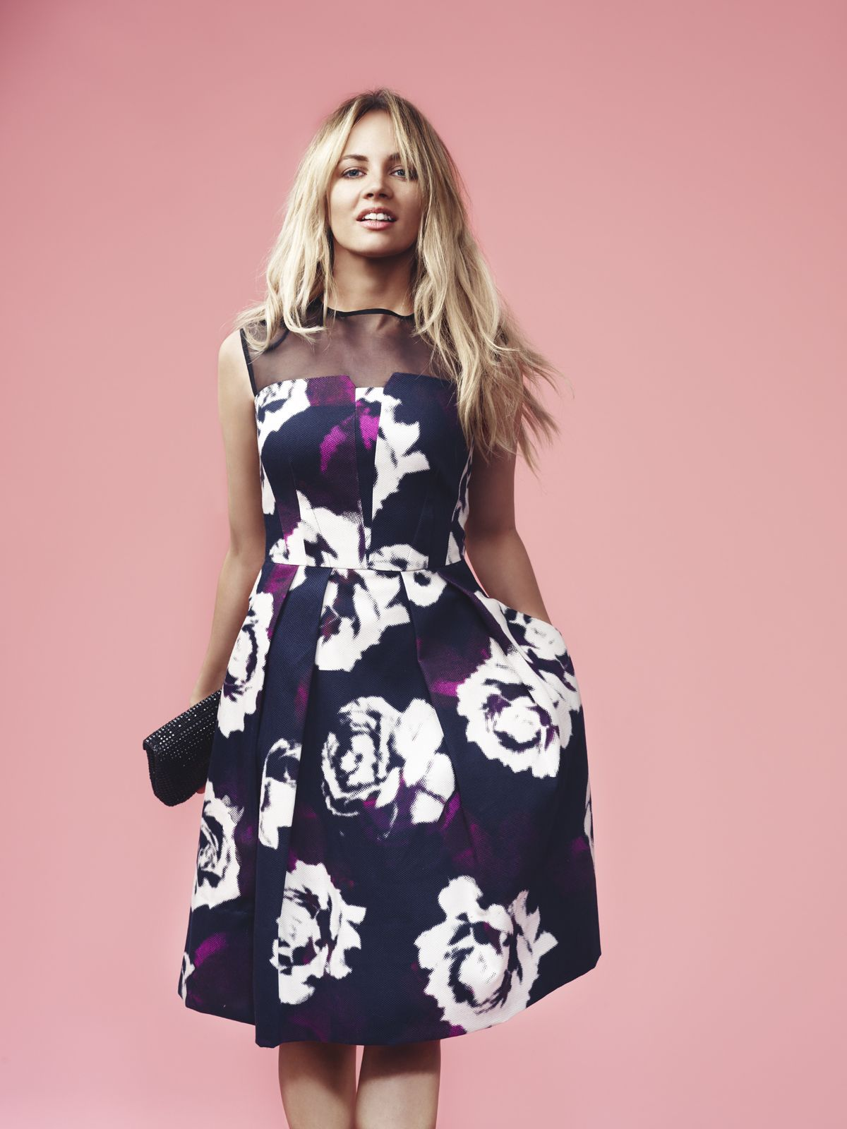 Samantha Jade wears the Veronika Maine Large Floral Print Dress $299 ...