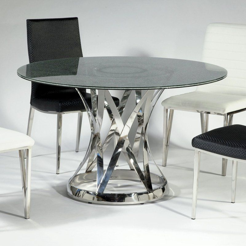 10 Excellent Crackle Glass Dining Table Ideas Photo  Maximo Classy Ikea Glass Dining Room Table Design Ideas