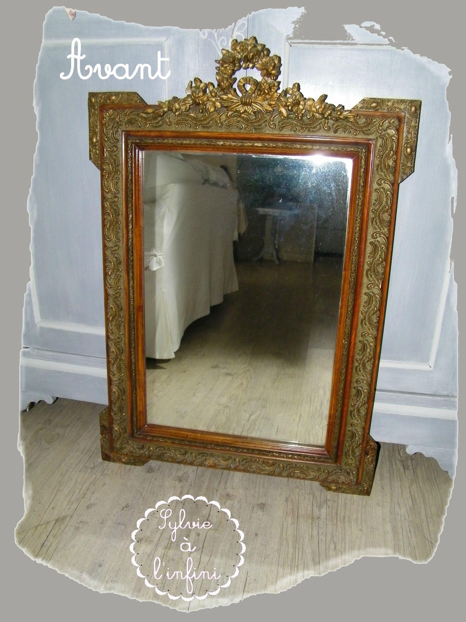 Customiser Un Cadre De Miroir relookage de cadre de miroir ancien esprit gustavien & son