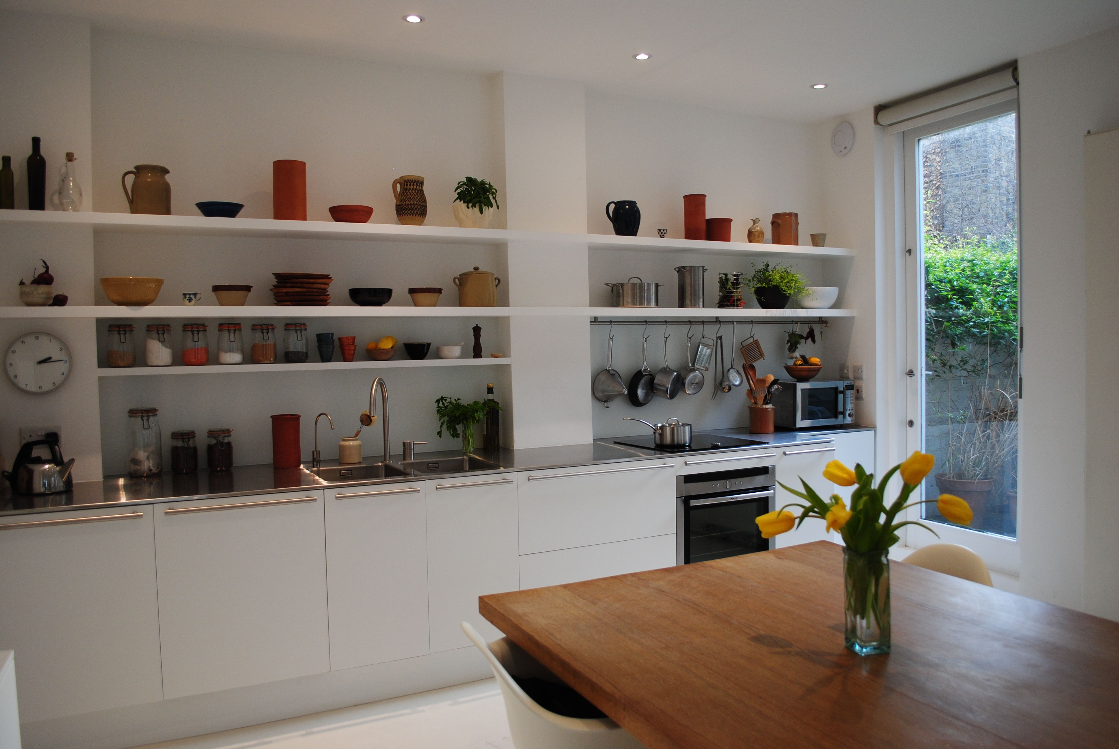 A Custom Made Flat Fronted Matt White Kitchen With 5M