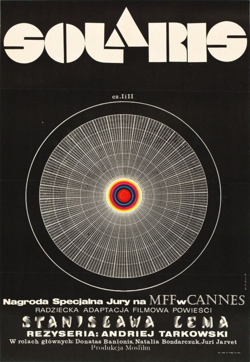 Polish film poster for Solaris. 1972.