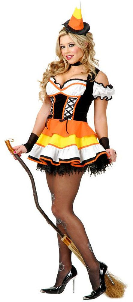 Sexy Womens Candy Corn Witch Costume   Witch Costumes   Pinterest ...