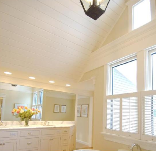 Love The Paneling On The Ceiling Vaulted Ceiling Ceiling Bathroom Ceiling