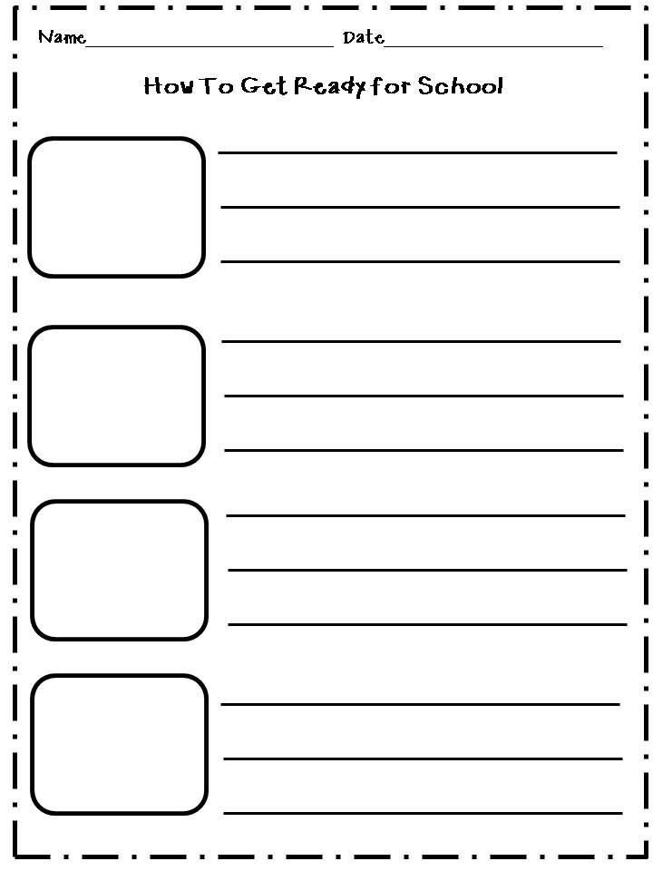 writing paper templates for first grade - Google Search First