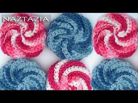 Learn How to Crochet - Spiral Scrubbie Tutorial (Dishcloth Washcloth ...