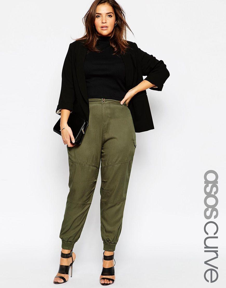 82204b8b1235 ASOS CURVE Utility Peg Trouser   PLUS SIZE FASHION   Fashion, Peg ...