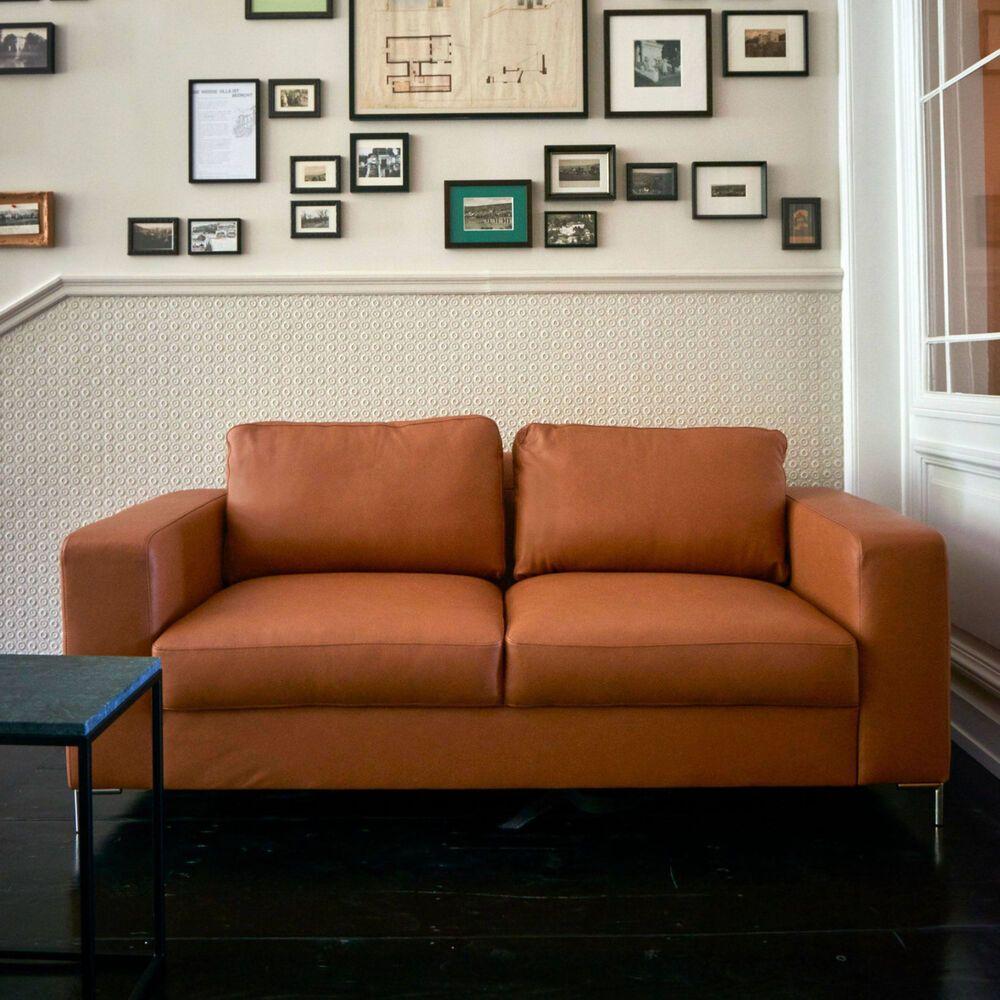 Etne Leder 25 Sitzer Sofa Brandy Brandy 192 X 92 Cm H 84 Cm Geschenkideen Geschenkideen Leder
