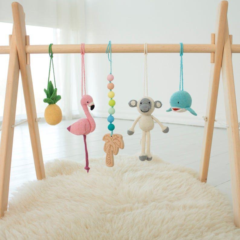 My Rainbow Wooden Baby Gym Play Arch