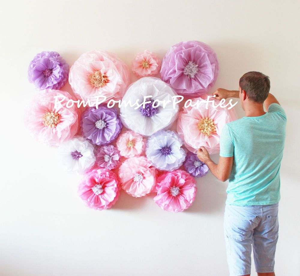 10 Large paper flower.Giant blooms.Wedding centerpiece.Baby shower decorations.