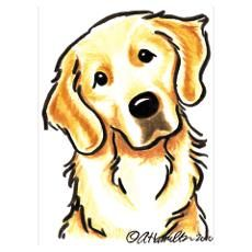 Cartoon Golden Retriever Golden Retriever Cartoon Posters Prints Cafepress Golden Retriever Art Golden Retriever Drawing Cartoon Drawings