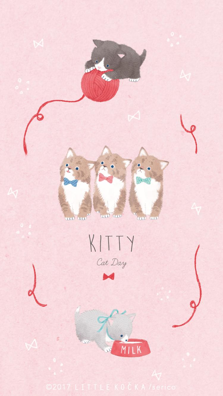 Cute Kitty By Serico かわいい図面 奇想的なアート 絵本 かわいい