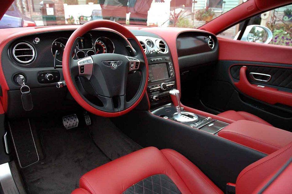 Custom Red Bentley Continental Gt Super Sports Interior1 Catch
