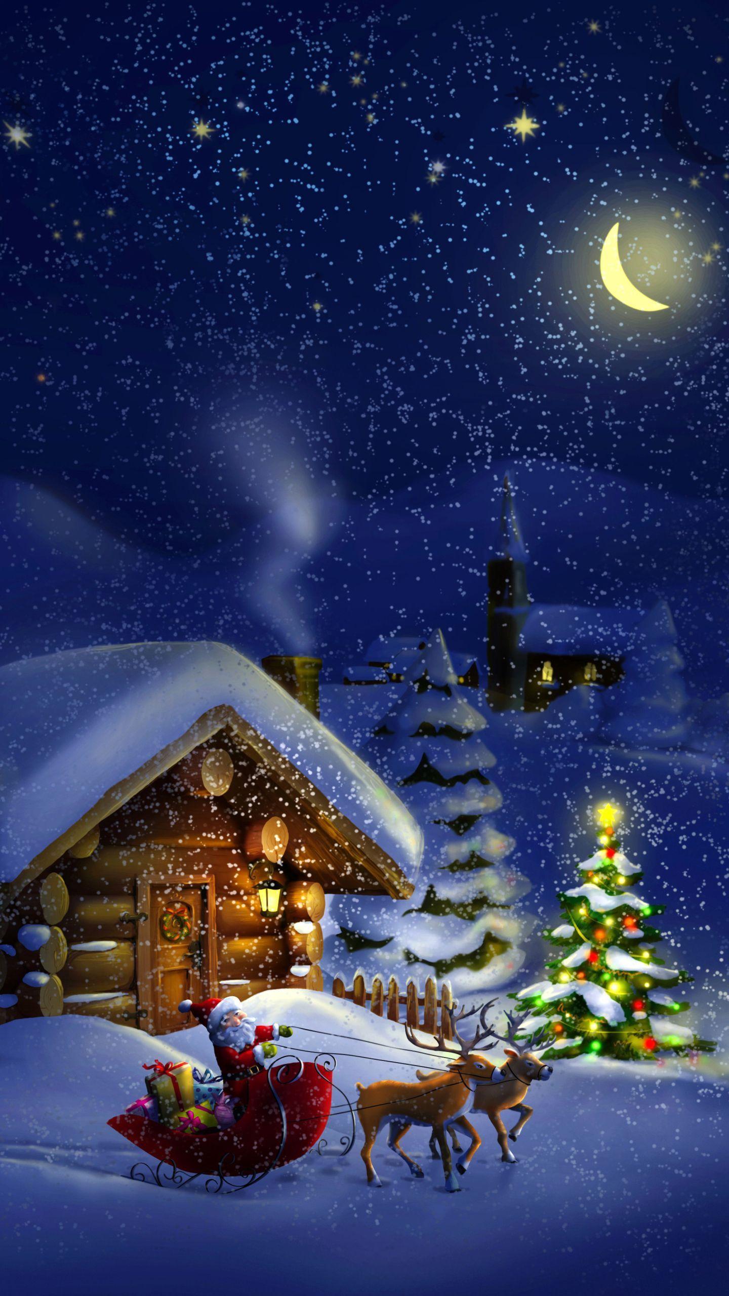 Nightmare Before Christmas 3d Christmass 2020 holiday fondos Weihnachten Wallpaper 1440x2560 | 3D Hintergrnde
