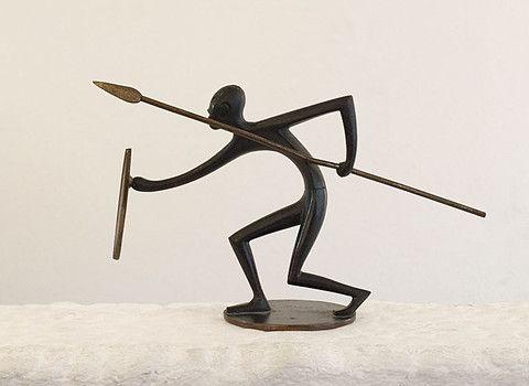 HAGENAUER Franz (1906-1986.  Guerrier africain
