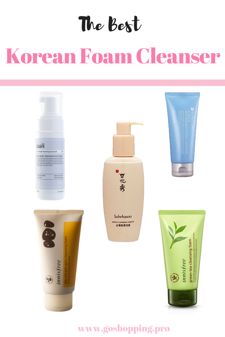 740a25bf24 After cleansing oil, you need to use a foaming cleanser to remove residues.  I select the best Korean foam cleansers for you based on your skin type.