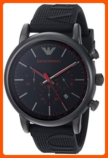2c53896de6e Emporio Armani Men s  Luigi  Quartz Stainless Steel and Silicone Casual  Watch