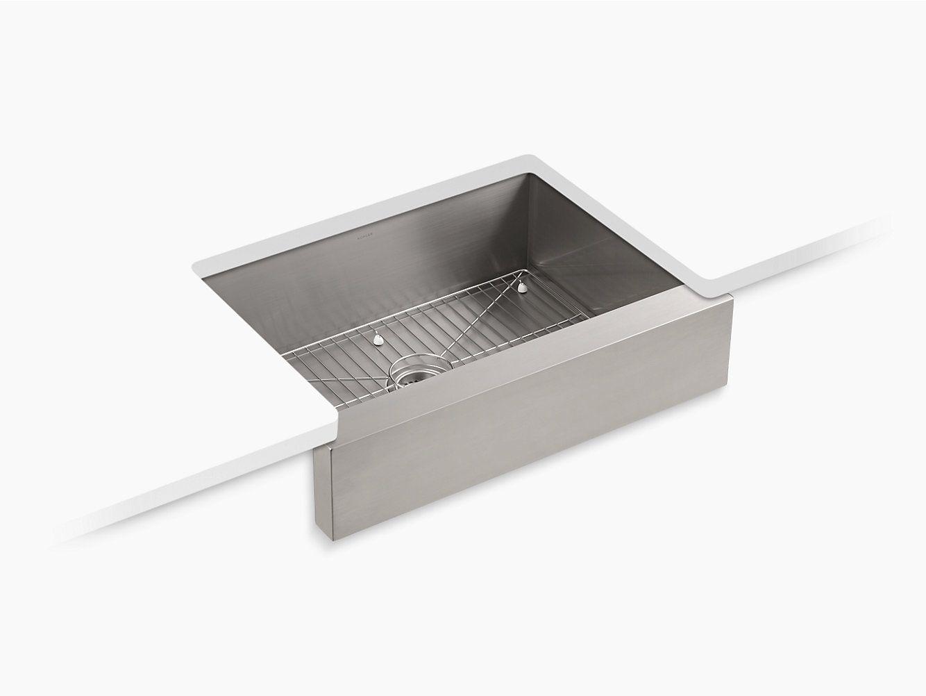 Vault Undermount Kitchen Sink K 3936 Kohler Kohler Apron Front Kitchen Sink Sink Kitchen Sink