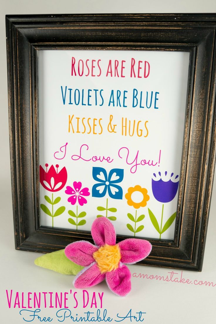 Roses are redu valentineus day printable art printable art
