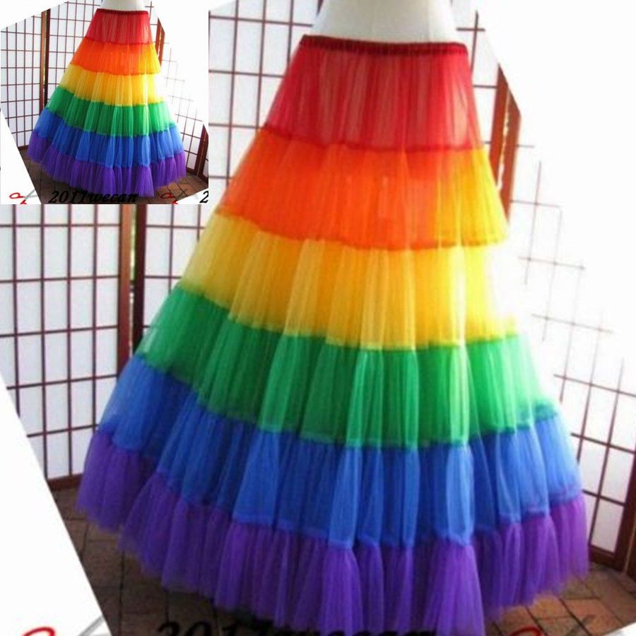 Petticoat for wedding dress  Bridal Gown Petticoat Rainbow Underskirt For Wedding Dress Long