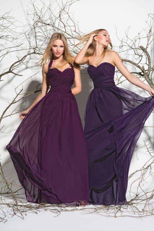7 flattering colours for your summer bridesmaid dresses | Purple ...
