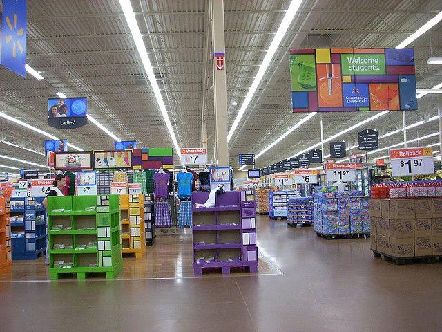 Wal Mart Supercenter Interior Walmart Retail Design Interior