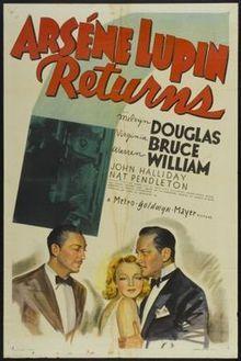 Arsene Lupin Returns Melvyn Douglas Virginia Bruce Warren William John Halliday Directed By George Fitzmaurice Crime Movies Movie Posters Melvyn Douglas