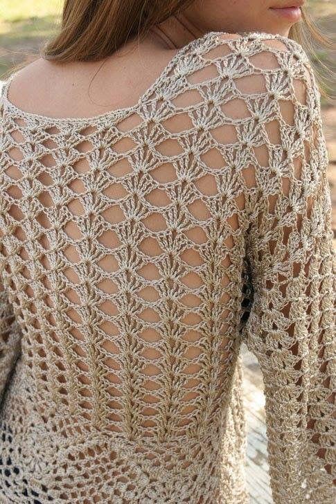 Pin de Gloria Campos en blusas tejidas | Pinterest | Blusas tejidas ...
