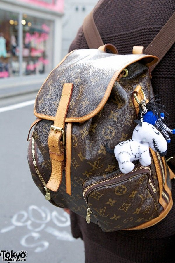 b97dc54386e14 Not a label whore but this Louis Vuitton backpack is a must have ...