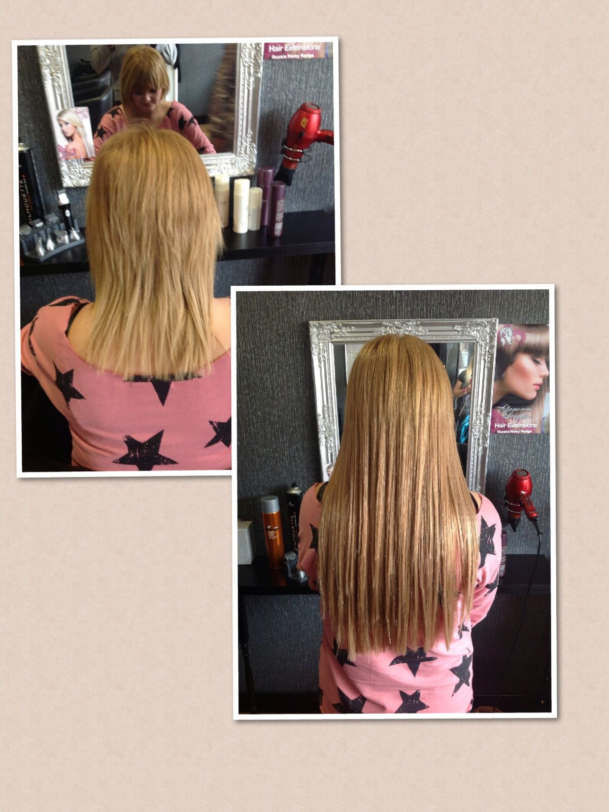 Full head of micro ring hair extensions l 100 Indian Remy