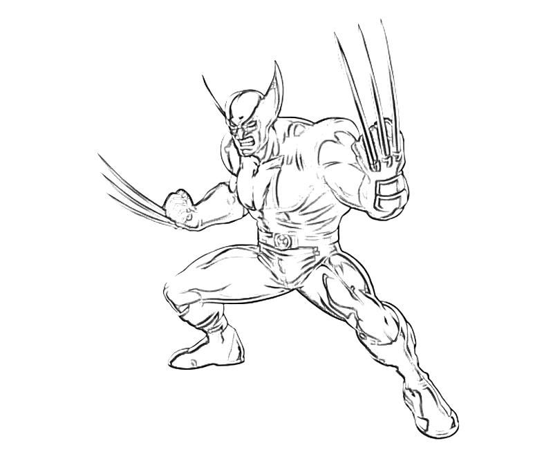 Free Printable Wolverine Coloring Pages For Kids | Pinterest | Adult ...