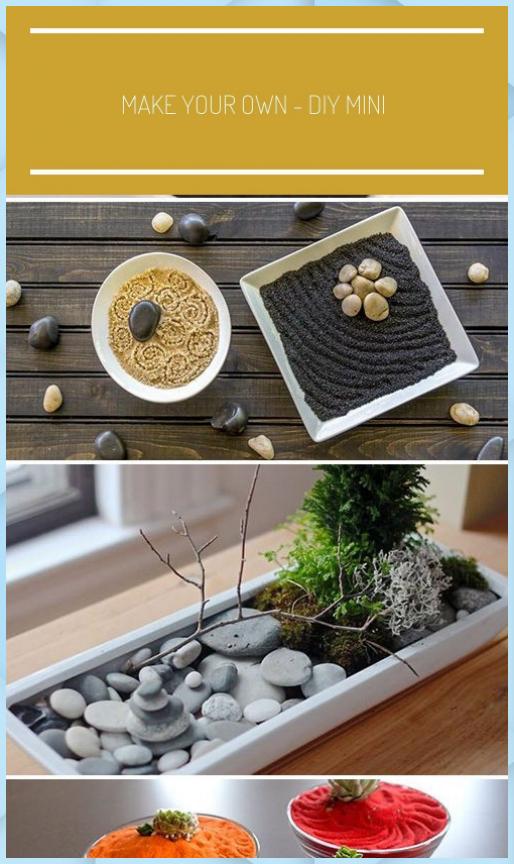 Photo of Crea il tuo – DIY Mini Zen Gardens #giardino zen in m – Giardino Fai Da Te #crea …