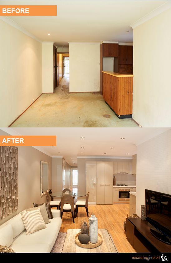 Lounge renovation renovation before after photos - Living room renovation before and after ...