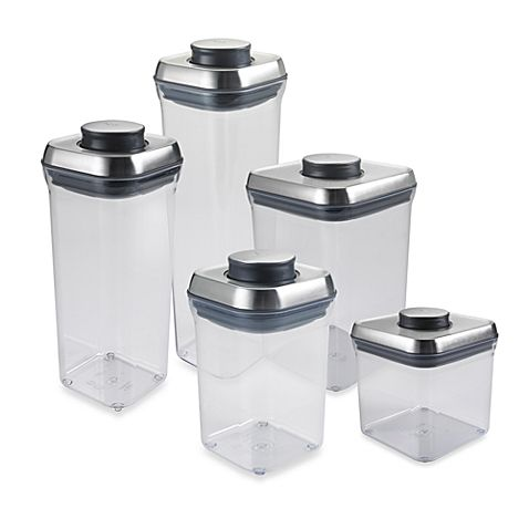 OXO SteeL POP Square Food Storage Container f 10 Pinterest