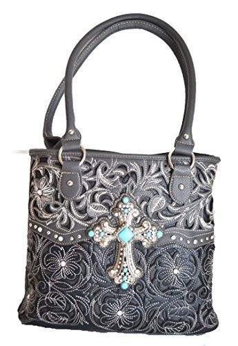 c9d51e9ed490 Stony West cowgirl western floral stitched handgun carry turquoise ...