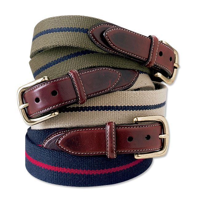 c58ee8c752 Just found this Mens Fabric and Leather Belt - Cotton and Leather Surcingle  Belt -- Orvis on Orvis.com!
