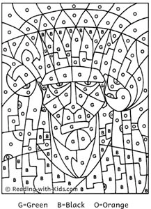Color By Number Halloween Coloring Coloring Pages Halloween Coloring Pages