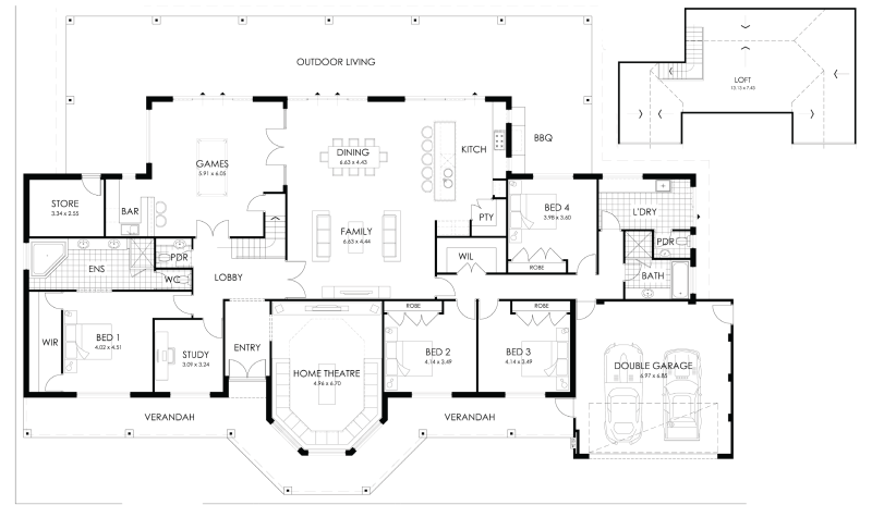 Floor Plan Friday Rural Style Home With A Loft Loft Floor Plans House Plans Australia Floor Plans