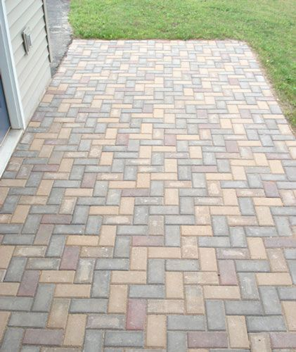 Herringbone Entry Outdoor Pavers Patio Projects Patio