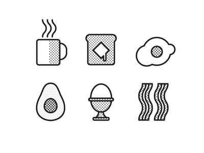 Breakfast Icon Design Illustration Design Design Inspiration