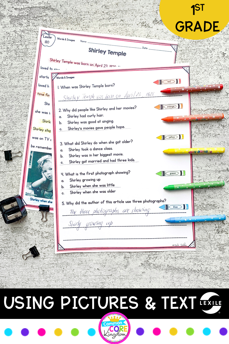 1st Grade Comprehending Pictures Text Reading Comprehension Passages Comprehension Passage Close Reading Passages