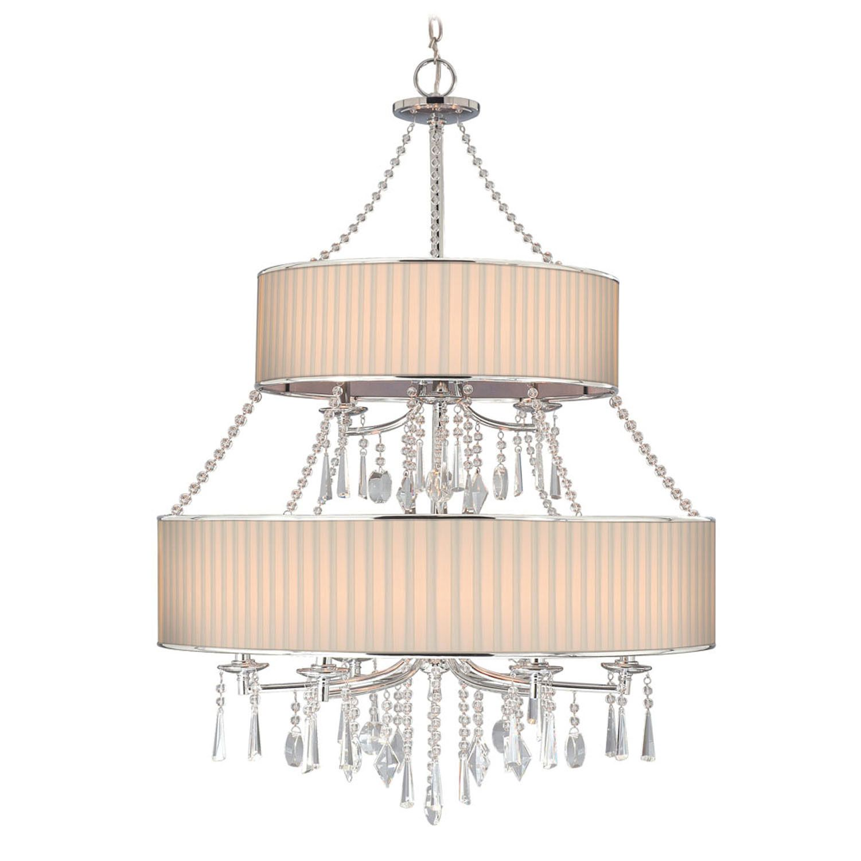 Echelon Chandelier In Bridal Veil Nine Lights With Beaded Crystal Accents Josain