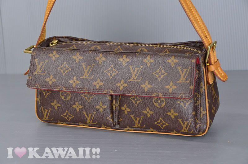 Authentic Louis Vuitton Monogram Viva Cite MM Shoulder Bag M51164 ... de998a960b