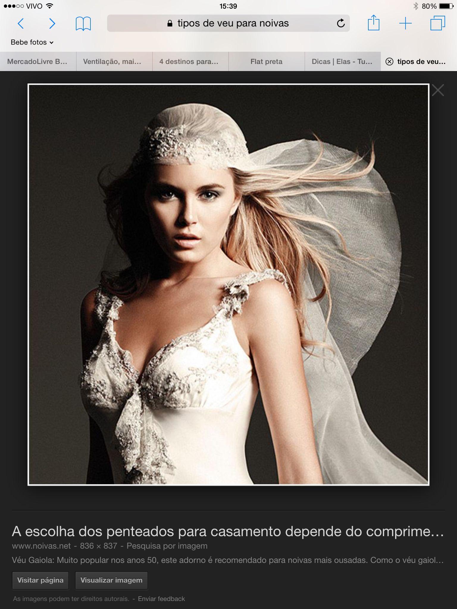 Véus e Voilette  para noivas