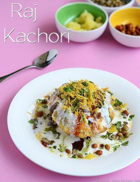 raj kachori recipe chaat recipes with images indian food recipes chaat recipe indian food on hebbar s kitchen kachori id=13785