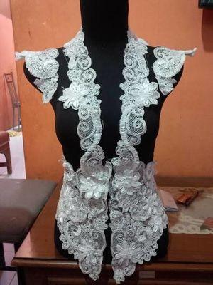 Bordir Tempel Kebaya Bordir Aplikasi Bordir Model Pakaian Wanita Pakaian Wanita Model Pakaian