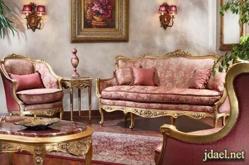 موديلات كنب امريكي كلاسيك تصميم كبتيون بالوان عصريه Classic Home Furniture Pink Furniture Luxury Sofa Living Room
