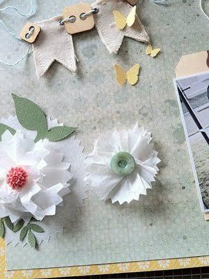 Tissue paper flower embellishment tissue paper paper ribbon and craft tissue paper flower embellishment mightylinksfo Gallery